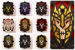 Evil Knight Wall Art 3D Layered SVG Cut File Product Image 2