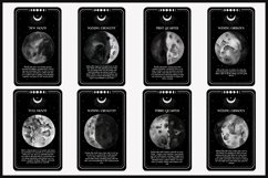 Abstract Watercolor moon phases card clipart Product Image 2