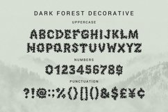 Dark Forest - Decorative Display Font Product Image 2