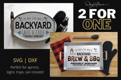 Backyard BBQ Grill and Chill Brew and BBQ SVG | DXF Cut File Product Image 1