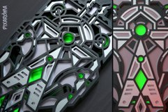 Futuristic Wall Sculpture 3D Layered SVG Cut File Product Image 2
