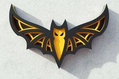 Halloween Bat 3D Layered SVG Cut File Product Image 2