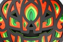 Halloween Pumpkin 3D Layered SVG Cut File Product Image 2