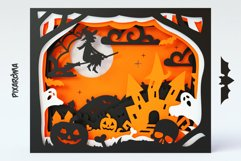Halloween Shadowbox 3D Layered SVG Cut File Product Image 2
