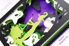 Halloween Wall Art 3D Layered SVG Cut File Shadowbox Product Image 2