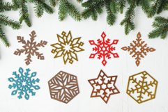 Laser Cut Files Vol.1 - 50 Snowflake Ornaments Product Image 2