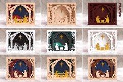 Nativity Scene 3D Layered SVG Cut File Product Image 2