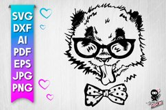 Panda cut file. Funny baby animal svg Product Image 1