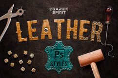Leather Layer Styles For Photoshop Product Image 1