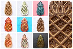 Pineapple 3D Layered SVG Cut File Product Image 2