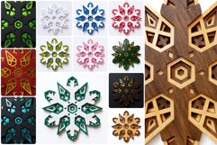 Snowflake 01 3D Layered SVG Cut File Product Image 2