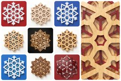Snowflake 02 3D Layered SVG Cut File Product Image 2