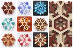 Snowflake 03 3D Layered SVG Cut File Product Image 2