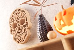 Sugar Skull 3D Layered SVG Cut File Product Image 2