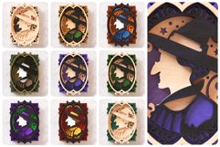 Witch Portrait Wall Art 3D Layered SVG Cut File Product Image 2