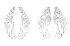 20 Beautiful Feather Angel Wings Illustration Collection SVG Product Image 4