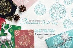 Christmas decoration ball. Digital Paper Seamless Pattern Product Image 1