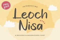Leoch Nisa Modern Handbrushed Font Product Image 1