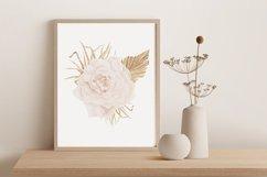 Boho rose printable, Watercolor rose wall print Product Image 4