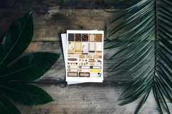 Coffee Lover Planner Stickers Canva Template, Customizable Product Image 4