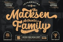 Retro Script - The Macksen Font Product Image 1