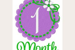 1 Month Baby- Machine Embroidery Design Product Image 1