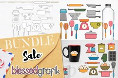 Cooking and Baking Utensils Illustrations Bundle Product Image 1