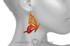 Butterfly Earrings SVG Earrings SVG, Cut file Product Image 5