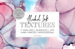 7 Huge Seamless Purple Alcohol Ink Textures Product Image 1