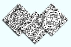 Black and white abstract doodles patterns mini-set Product Image 2