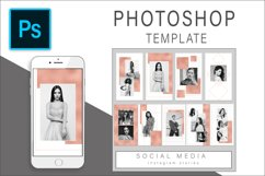 Rose Gold Instagram Stories Photoshop template Product Image 1