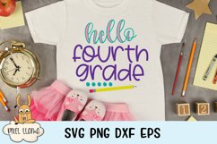 Hello Fourth Grade Back To School SVG Product Image 1