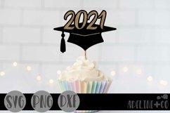 2021 graduation cap cake topper
