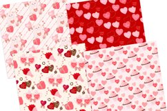 Valentine's Day Seamless Pattern Digital Papers Product Image 3