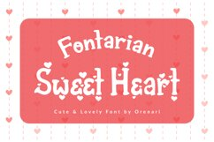 Fontarian Sweet Heart Product Image 1