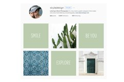 Summer stock photos Lisbon green tiles texture plants Product Image 3