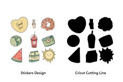 Aesthetic Tumblr Printable Stickers Sheet Product Image 3