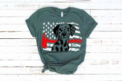 Firefighter Dalmatian USA Flag SVG 4th July 1693s Product Image 1