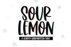 Sour Lemon - A Fun Handwritten Font Product Image 1