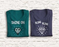 Hand-Drawn Style Diamond SVG File Cutting Template Product Image 1