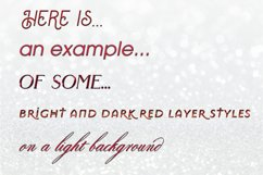 20 Bright and Dark Red Layer Styles for Photoshop Product Image 2
