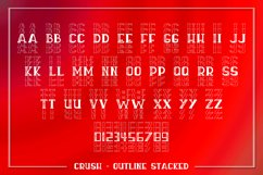 Crush - An All Caps Stacked Font - Solid & Outline Product Image 2