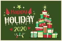 Happy Christmas Party - Xmas Font Product Image 2
