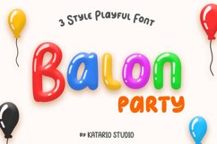 Balon Party | Layered 3 Style Display Font Product Image 1
