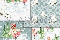 Little Skater Christmas Background Pattern Product Image 4