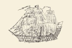 Set of engraved style ships Product Image 3