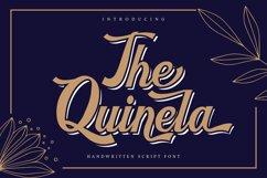 The Quinela | Handwritten Script Font Product Image 1
