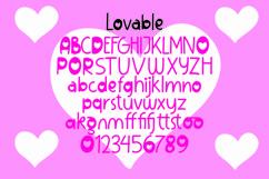 Web Font Lovable - Sweet Valentine Font Product Image 2
