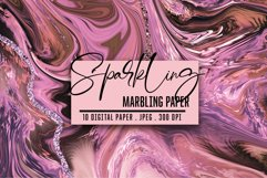 Marbled Paper collection. Rose Gold, Marbling Digital Paper Product Image 1