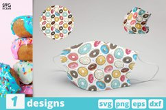 DONUTS FACE MASK svg pattern, tasty donuts mask pattern Product Image 1